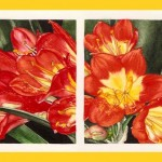CLIVIA, 2008.  Watercolor on paper, 4 x 12 in (10 x 31 cm).  Private Collection.